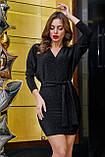 1266/7 Стильное женское платье с люрексом, фото 3