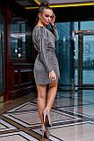 1266/7 Стильное женское платье с люрексом, фото 9