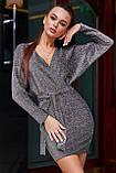 1266/7 Стильное женское платье с люрексом, фото 8