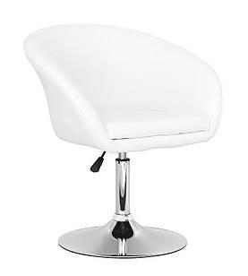 Кресло Мурат, мягкое, экокожа, цвет белый (Бесплатная доставка)