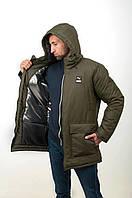 ХИТ! Парка мужская зимняя в стиле Puma Х khaki до -30°С   куртка мужская зимняя