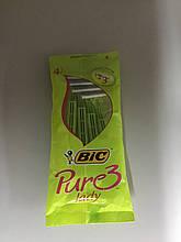 Набір одноразових станків для гоління Bic Pure 3 Lady 4шт. в упаковці