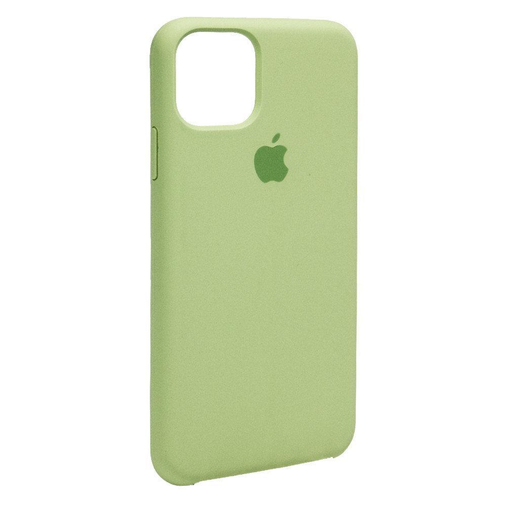 Силиконовый чехол накладка Original Silicone Case High Copy — iPhone 11 Pro Max — Green (1)