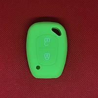 Чехол на ключ Рено Трафик Renault Trafic  2 кн салатовый