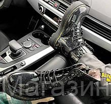 Зимние женские ботинки Dr. Martens Jadon Galaxy Black FUR лакированые Доктор Мартинс Жадон черные С МЕХОМ, фото 3