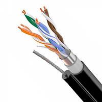 LAN кабель FTP-трос FPCW КППЕ-ВП 4х2х0,51 уличн с трос. (305м)