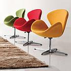 Кресло Сван, мягкое, металл, ткань, цвет желтый (Бесплатная доставка), фото 4