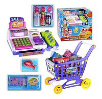 Набор для детской игры Мой магазин.Детский игрушечный магазин с кассой.Игрушечные продукты.