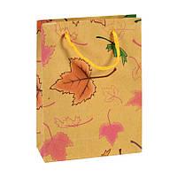 Сумочка подарочная Gift Bag Native Осень Бумага 20х15х6 см Натуральный (16988)