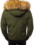 Мужской зимний пуховик Asos (Khaki), зимний пуховик хаки, фото 5