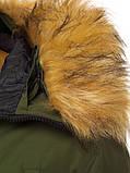 Мужской зимний пуховик Asos (Khaki), зимний пуховик хаки, фото 7