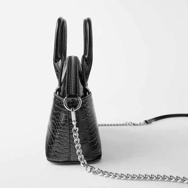 Женская сумочка мини с эффектом крокодиловой кожи Zara