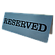 "Табличка металлическая ""Стол заказан"" (RESERVED) 210x148, фото 2"