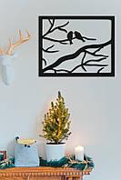 """Картина из дерева """"Птицы в рамке"""""""