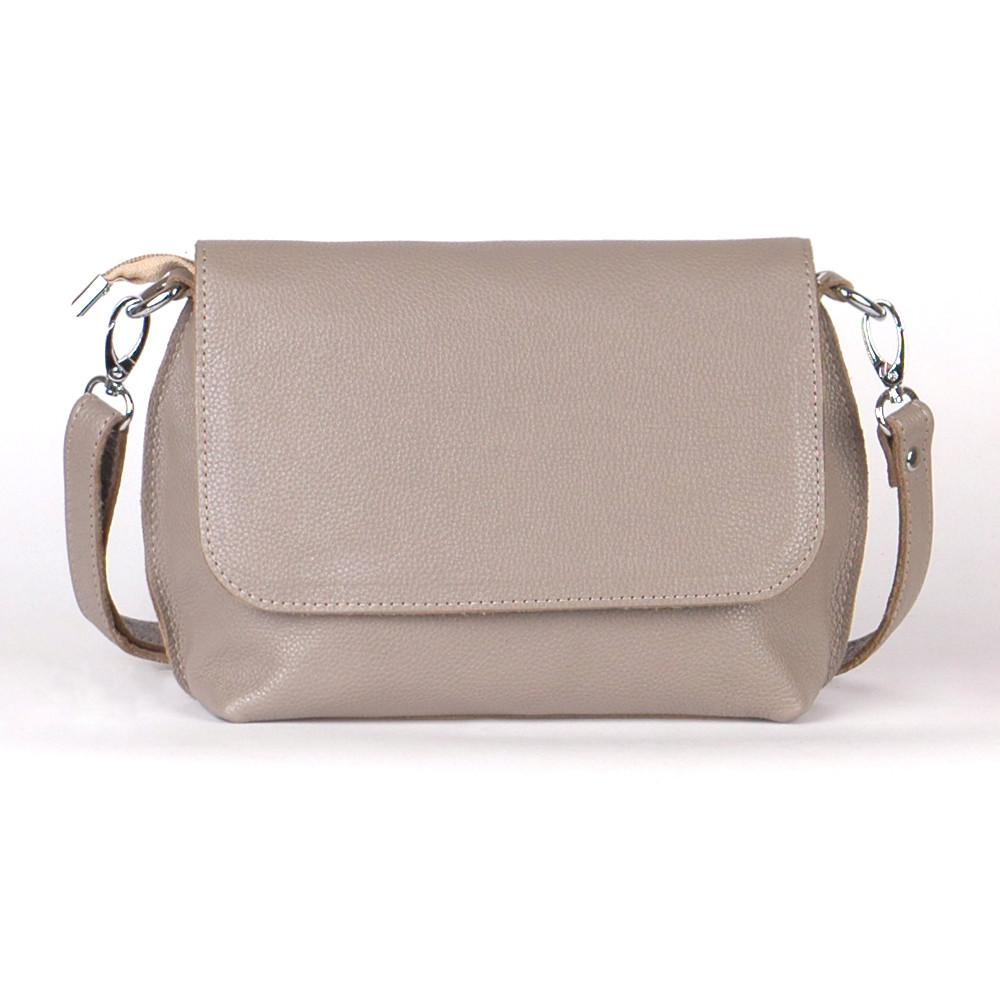 Кожаная женская сумочка 09 капучино флотар 01090109