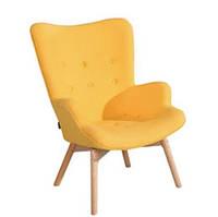 Кресло Флорино, мягкое, дерево бук, цвет желтый (Бесплатная доставка)