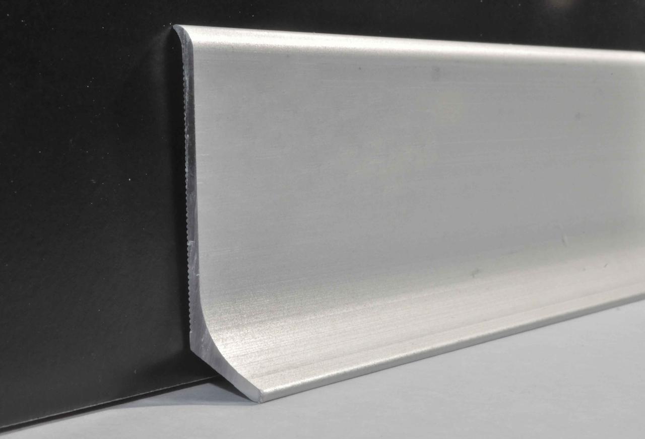 Плинтус алюминиевый накладной 40х2700 мм анодированный