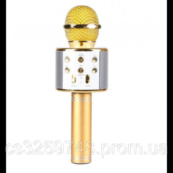 Беспроводной микрофон для караоке Wster WS858 Gold