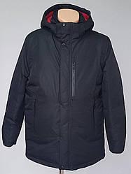 Теплая мужская куртка с одним нагрудным карманом (50-64 р)