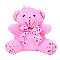 Брелок мягкая игрушка Мишка Тедди розовый 10х6 см.