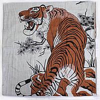 Качественное полотенце банное 100% хлопок с тигром, фото 1