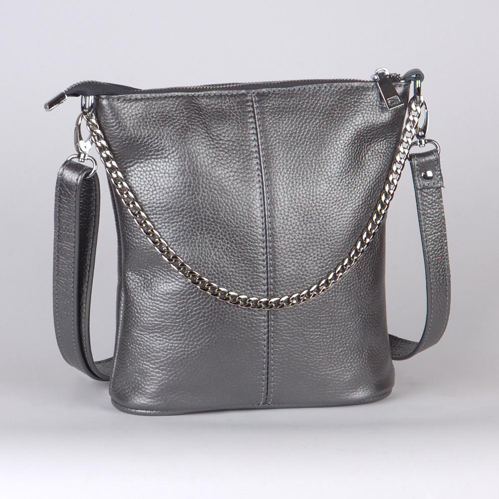 Женская сумка кожаная 41 никель флотар 01410112