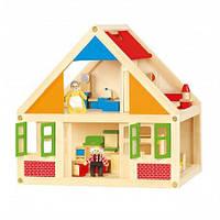 Развивающая деревянная игрушка Viga Toys Кукольный домик Разноцветный (56254)