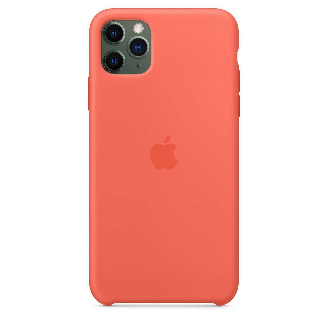 Силиконовый Чехол Накладка Original Silicone Case High Copy — iPhone 11 Pro Max — Orange (2)