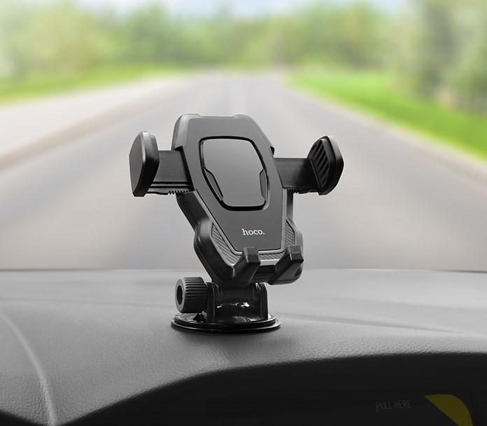 Автодержатель Hoco CA31 Suction Cup Car Holder универсальный с креплением на торпеду (Черный) ORIGINAL