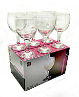 """Набор бокалов стеклянных 6 штук. """"Uniglass"""" 165 мл для тихих и десертных вин """"Kouros"""""""