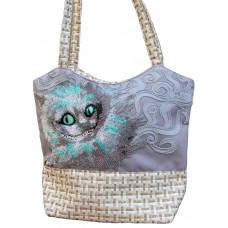Чеширский кот ЕС-001. ТМ Миледи. Пошитая сумка для вышивки бисером