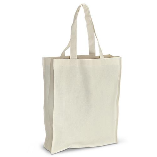 Экосумка из хлопка (35х10х42 см), 210 г/м2, шоппер, сумка для покупок