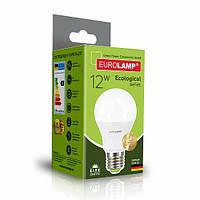 "LED Лампа Eurolamp ECO серия ""P"" A60 12W E27 4000K, фото 1"