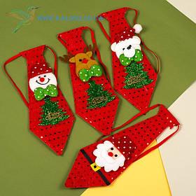 Новорічний краватка Діда Мороза H-12