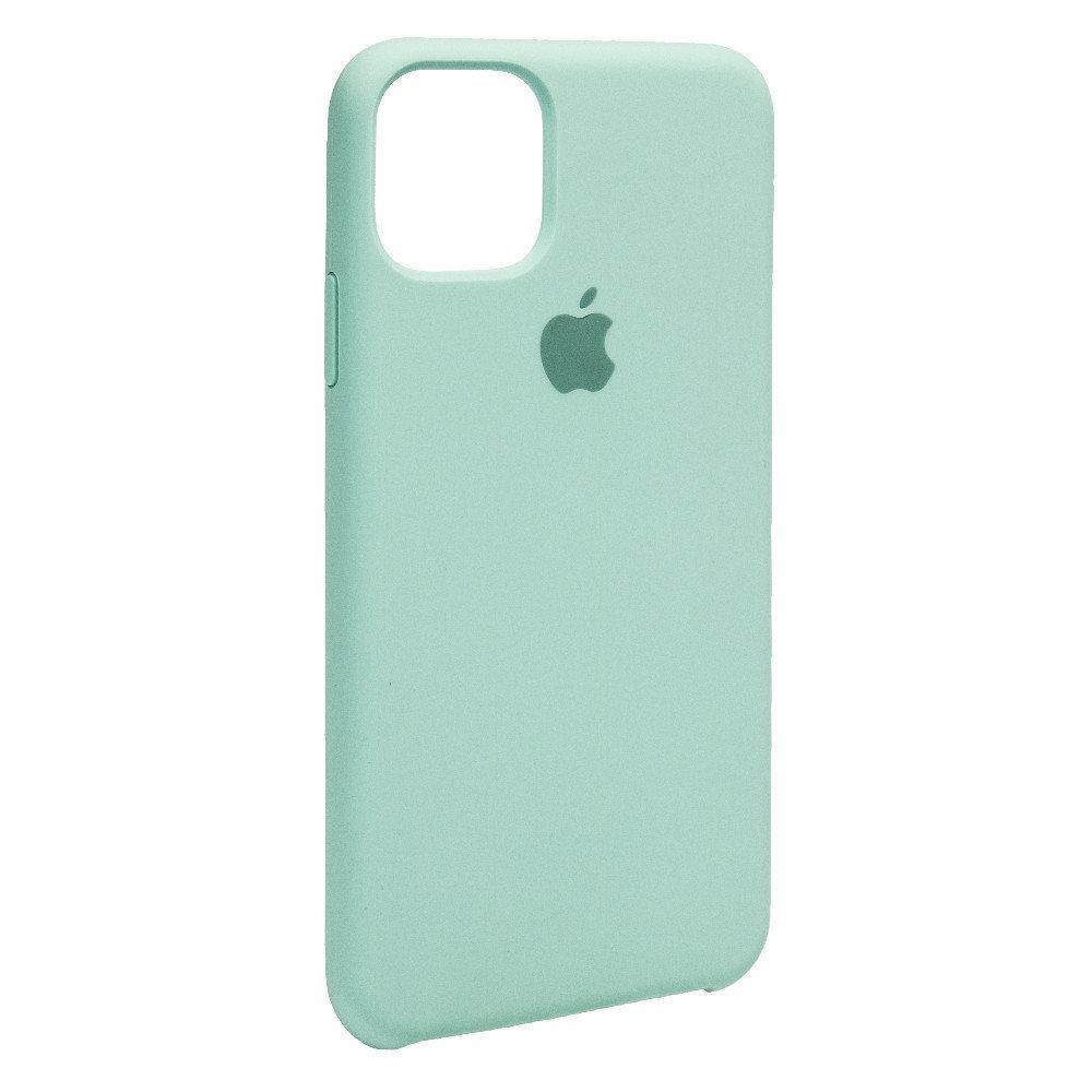 Силиконовый Чехол Накладка Original Silicone Case High Copy — iPhone 11 Pro Max — Sea Blue (21)
