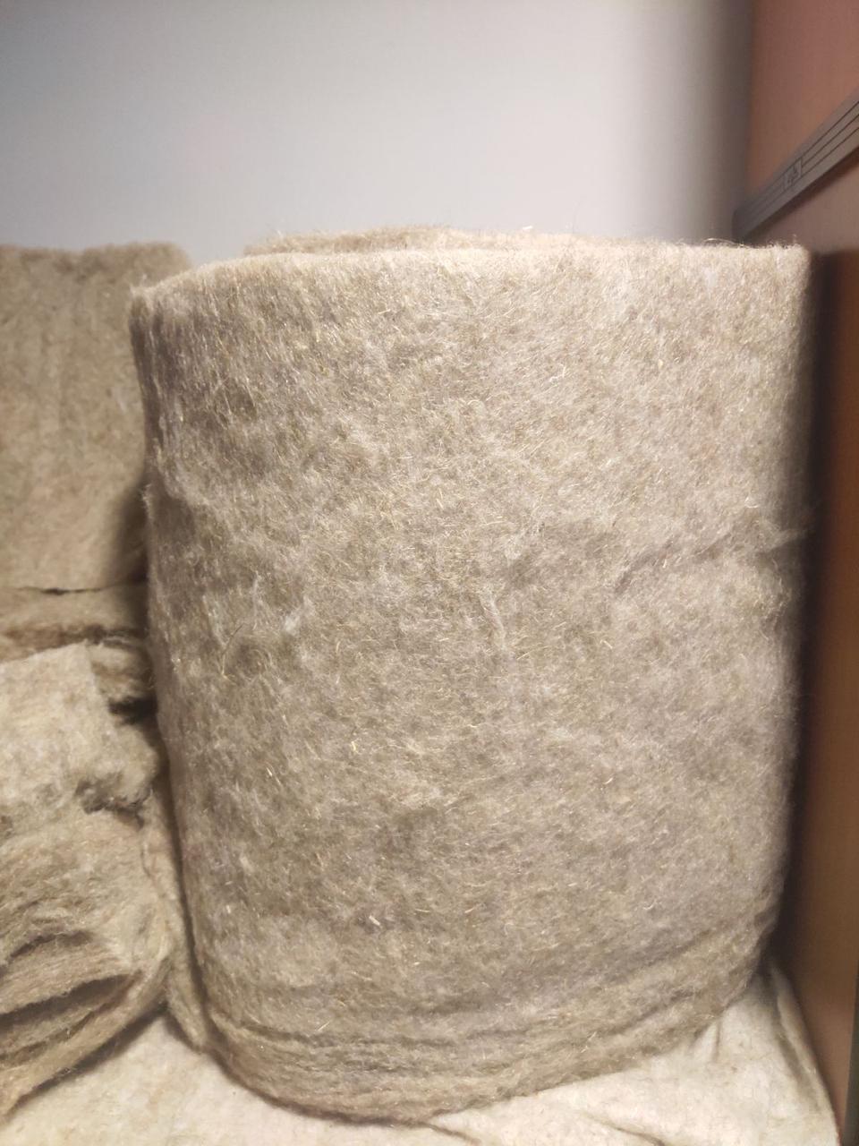 Оконный утеплитель материал ЛЕН натуральный толщина 3 см в ленте шир. 40 см длина 10 м, фото 1