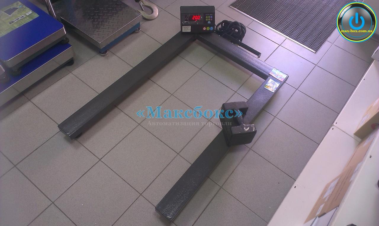 Палетні ваги Зевс ВПЕ4 А12Л Н1208 на 2000 кг для євро піддонів