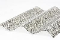 Прозрачный гофрированный лист Элипласт прозрачный 1.0 Х 2.0 м, тисненый