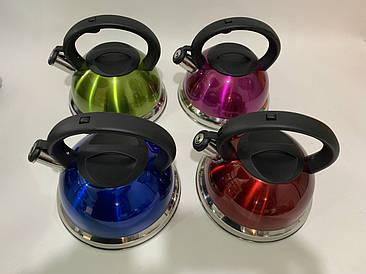Чайник со свистком из нержавеющей стали GLOBALIS на 3 литра (ящик 4 шт)