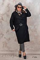 Большое черное кашемировое пальто без подкладки, фото 1