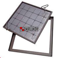 Напольный люк под плитку 600х600 Съемная крышка с утеплением