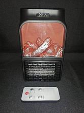 Портативный обогреватель Flame Heater Plus 500W с имитацией камина, c LCD дисплеем