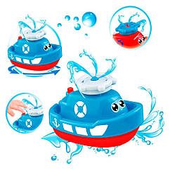 """Игрушка для ванной """"Кораблик"""" с фонтанчиком 58049"""