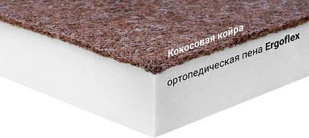 Мини-матрас скрученный  Sleep&Fly mini ЕММ Flex 2 в 1 Kokos (Флекс 2 в 1 кокос) стрейч, фото 2