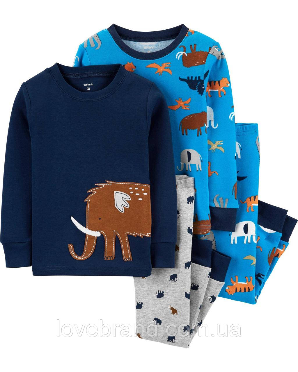 """Пижамы для мальчика Carter's """"Мамонт"""", детская пижама картерс"""