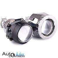 """Автомобильные линзы InfoLight  G5 Ultimate 2.5"""" с LED ангельскими глазками, ближний + дальний свет"""