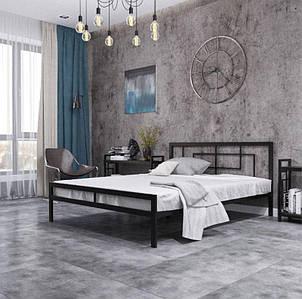 Кровать металлическая Квадро односпальная