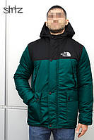 Мужская зимняя парка The North Face (Green/Black), зимняя мужская парка