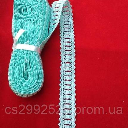 Кружево тесьма переплеты 9 метров. Кружево макраме для пошива и декора одежды. Цвет мята, фото 2