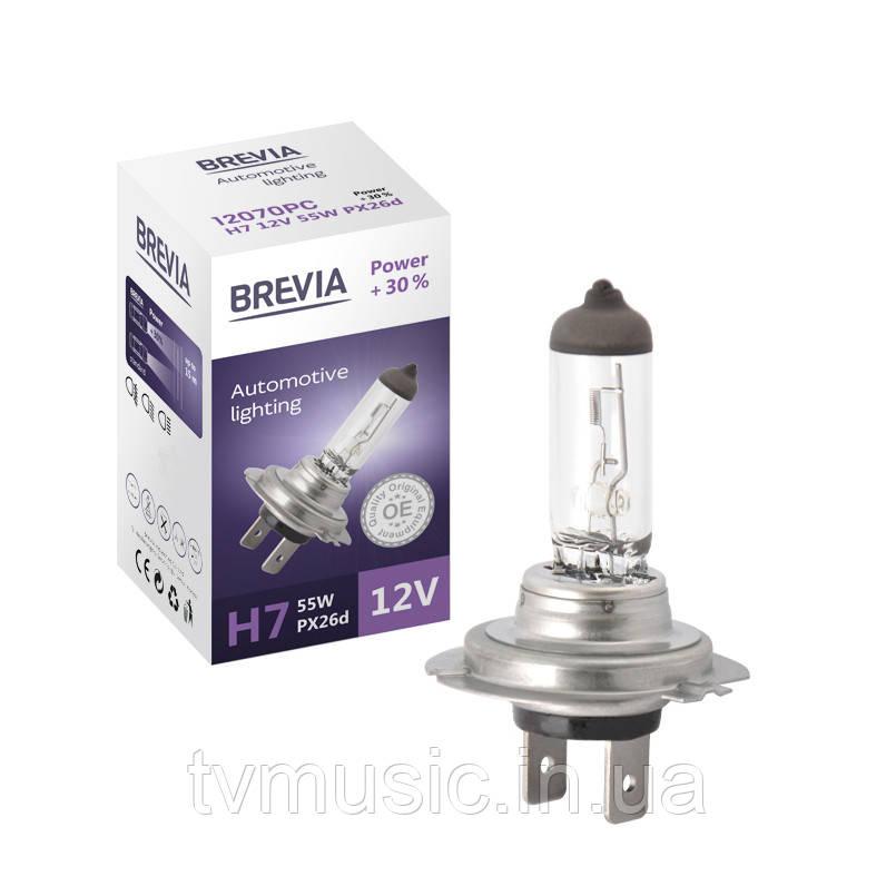 Автолампа BREVIA Power +30% H7 12V 55W 3500K